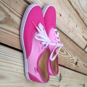 Women's Vintage Keds Sneakers Pink Canvas Size 7M